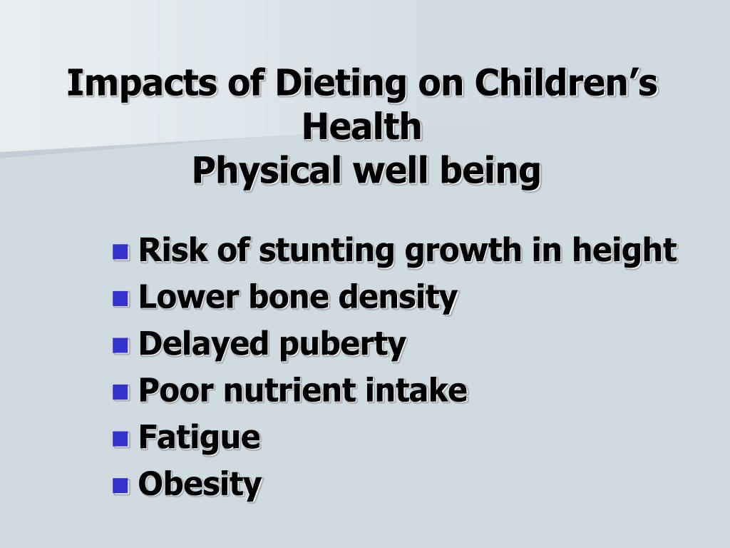 Impacts of Dieting on Children's Health