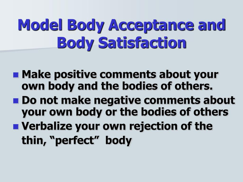 Model Body Acceptance and Body Satisfaction