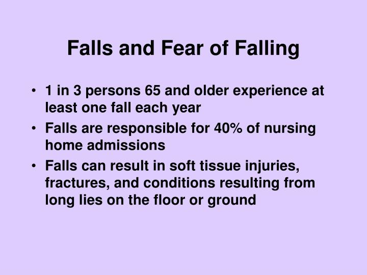 Falls and fear of falling