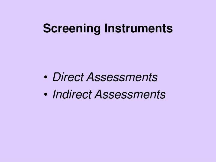 Direct Assessments