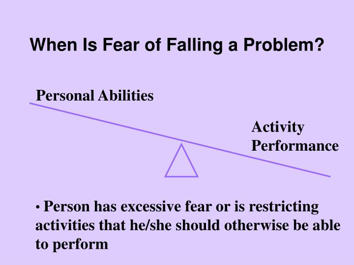 When Is Fear of Falling a Problem?