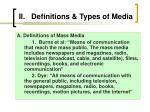 ii definitions types of media