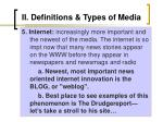 ii definitions types of media10