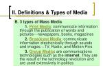 ii definitions types of media5