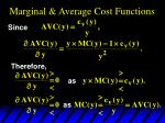 marginal average cost functions29