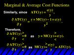 marginal average cost functions38