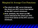 marginal average cost functions40