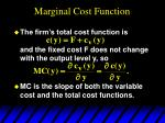 marginal cost function23
