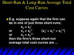 short run long run average total cost curves66