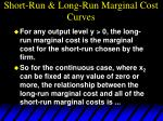short run long run marginal cost curves81