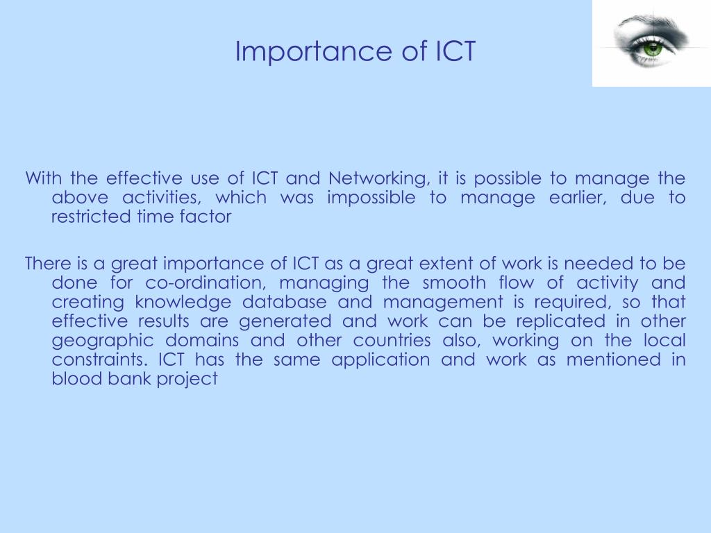 Importance of ICT