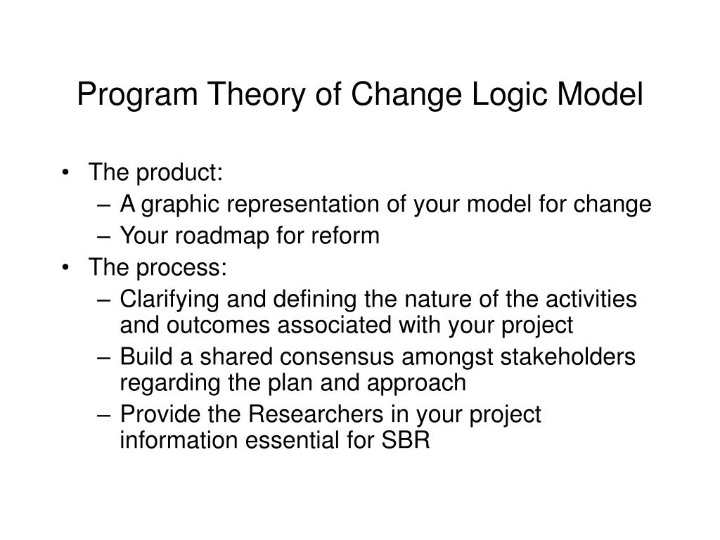 program theory of change logic model l.