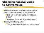 changing passive voice to active voice92