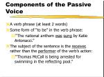 components of the passive voice