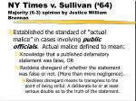 ny times v sullivan 64 majority 6 3 opinion by justice william brennan180