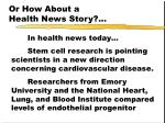 or how about a health news story