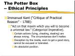the potter box ethical principles150