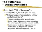 the potter box ethical principles152