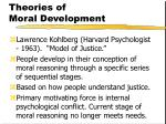 theories of moral development157