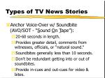 types of tv news stories127