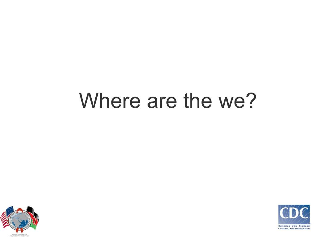 Where are the we?