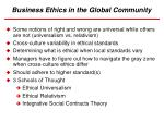 business ethics in the global community