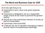 the moral and business case for csr