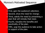 monroe s motivated sequence