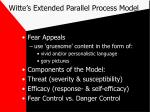 witte s extended parallel process model