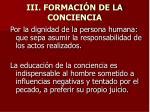 iii formaci n de la conciencia