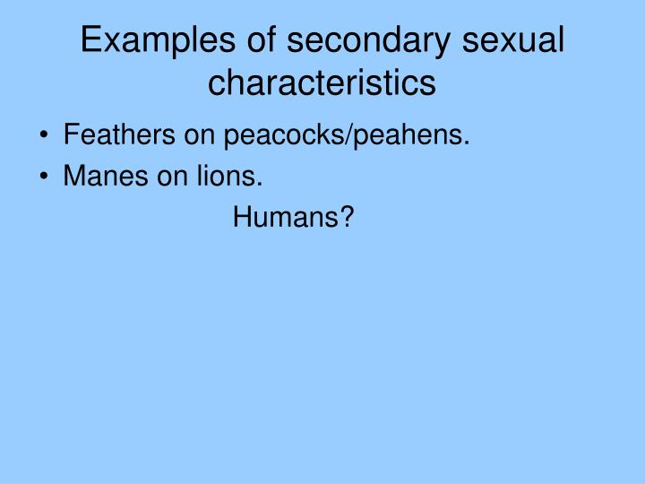 Secondary sexual characteristics examples