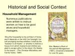historical and social context8