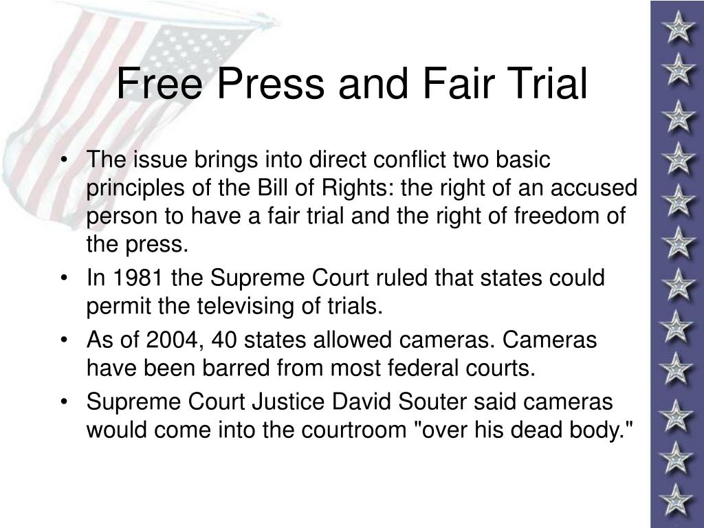 Free Press and Fair Trial
