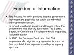freedom of information59