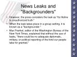news leaks and backgrounders53