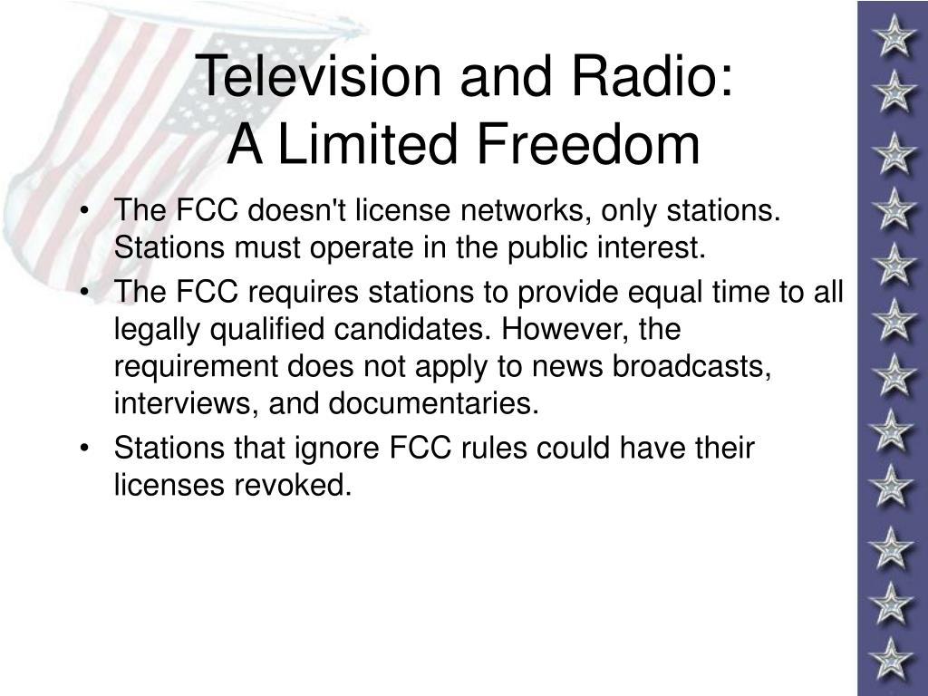 Television and Radio: