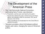 the development of the american press9