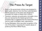 the press as target63