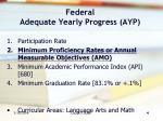 federal adequate yearly progress ayp