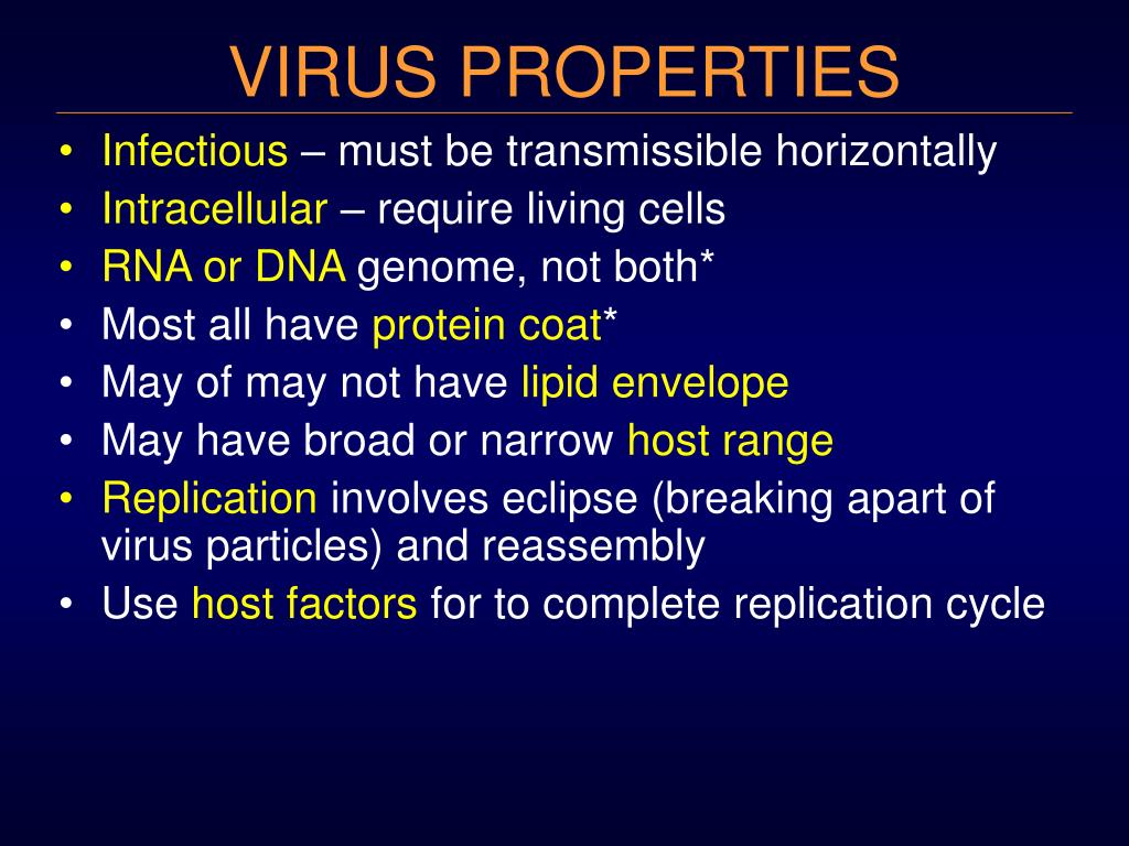 virus properties l.