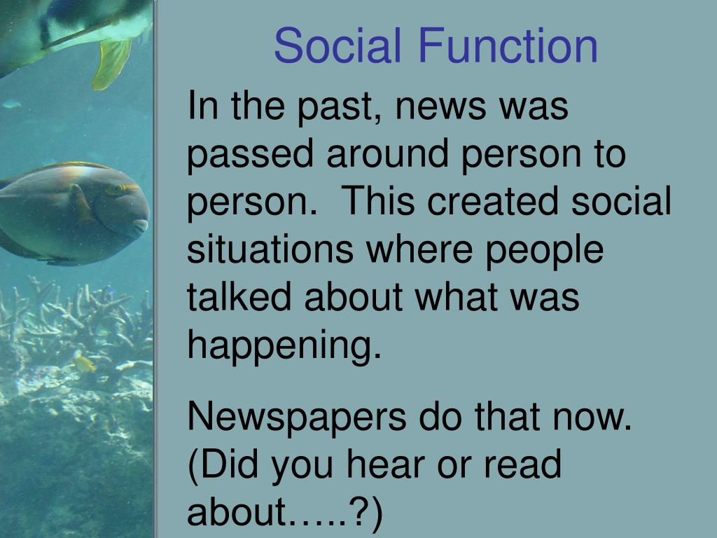 Social Function