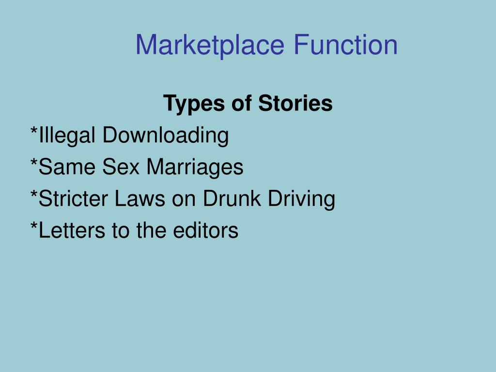 Marketplace Function