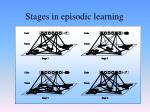 stages in episodic learning