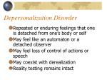 depersonalization disorder