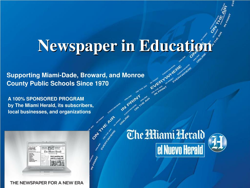 newspaper in education l.