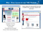 plus free access to our nie website