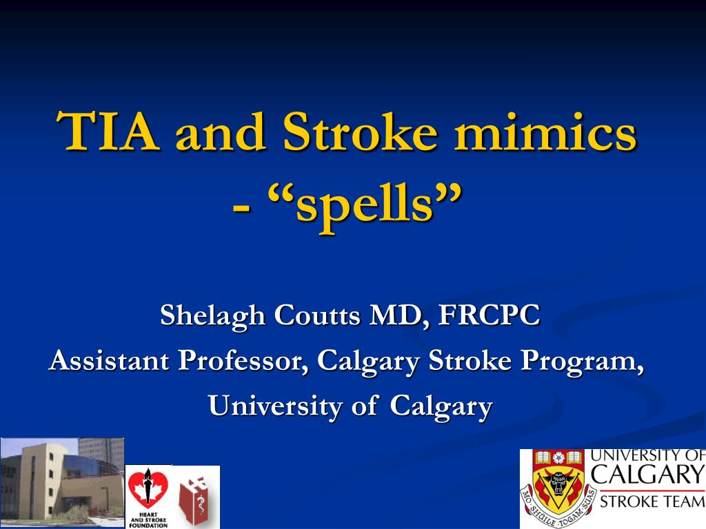 tia and stroke mimics spells l.