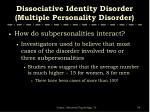 dissociative identity disorder multiple personality disorder54