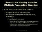 dissociative identity disorder multiple personality disorder56