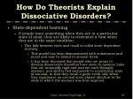 how do theorists explain dissociative disorders64